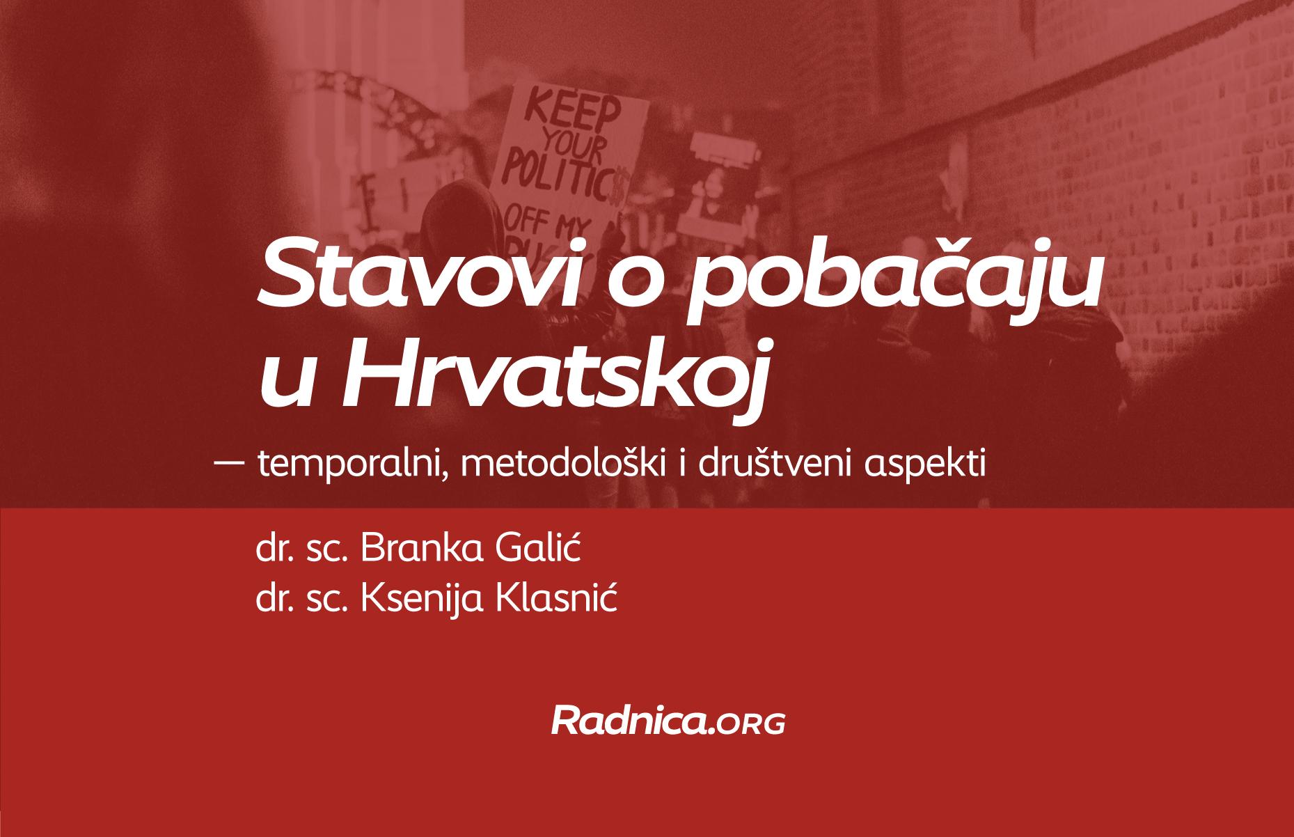 """Online izlaganje """"Stavovi o pobačaju u Hrvatskoj – temporalni, metodološki i društveni aspekti"""""""